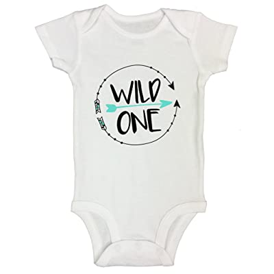 Boys Or Girls 1st Birthday Onesie 1 Year Old Bday Shirt Wild One Funny Threadz Kids