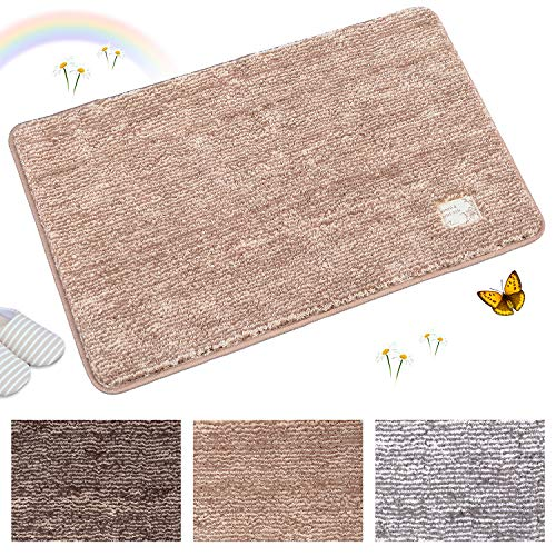 Indoor Doormat Super Absorbs Mud Absorbent Rubber Backing Non Slip Door Mat for Front Door Inside Floor Dirt Trapper Mats Cotton Entrance Rug, 20