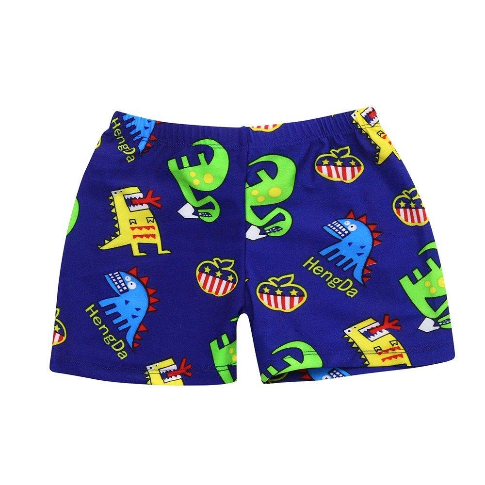 ❤️ Mealeaf ❤️ KidChildren Boys Cartoon Print Stretch Beach Swimsuit Swimwear Pants Shorts(24M-8T)