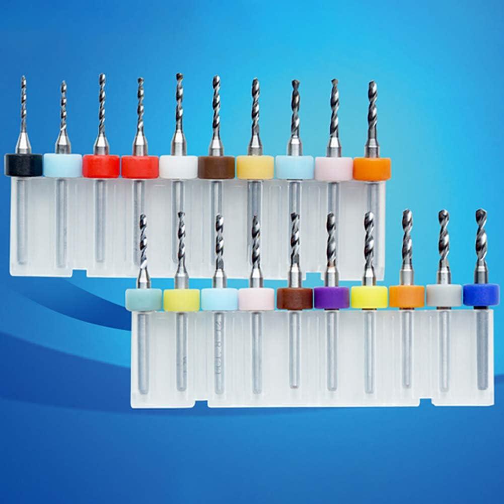 JIAYOUNG 10Pcs 0.1-1mm Print Circuit Board Drill Bits Carbide Micro Drill Bits CNC PCB Twist Drill-0.7mm