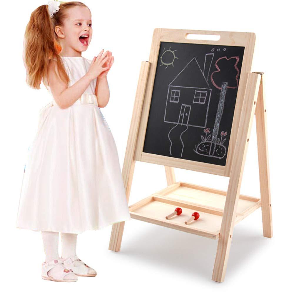 ChenYongPing Tavolo da Disegno per Bambini Cavalletto Magnetico a Doppia Faccia per Lavagna per Bambini e Bambini, Tre Dimensioni tra Cui Scegliere Cavalletto in Legno a Doppia Faccia