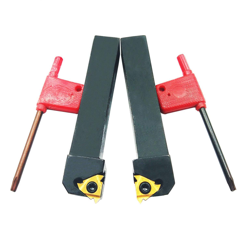 DLtools 10pcs CNC Carbide Threading Insert 16ER AG60 Lathe Holder for Steel-Preferable Level