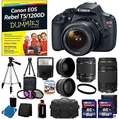Canon EOS Rebel T5 18MP EF-S Digital SLR Camera