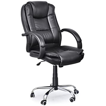 Executive High Back PU Leather Black Color fice Chair Black