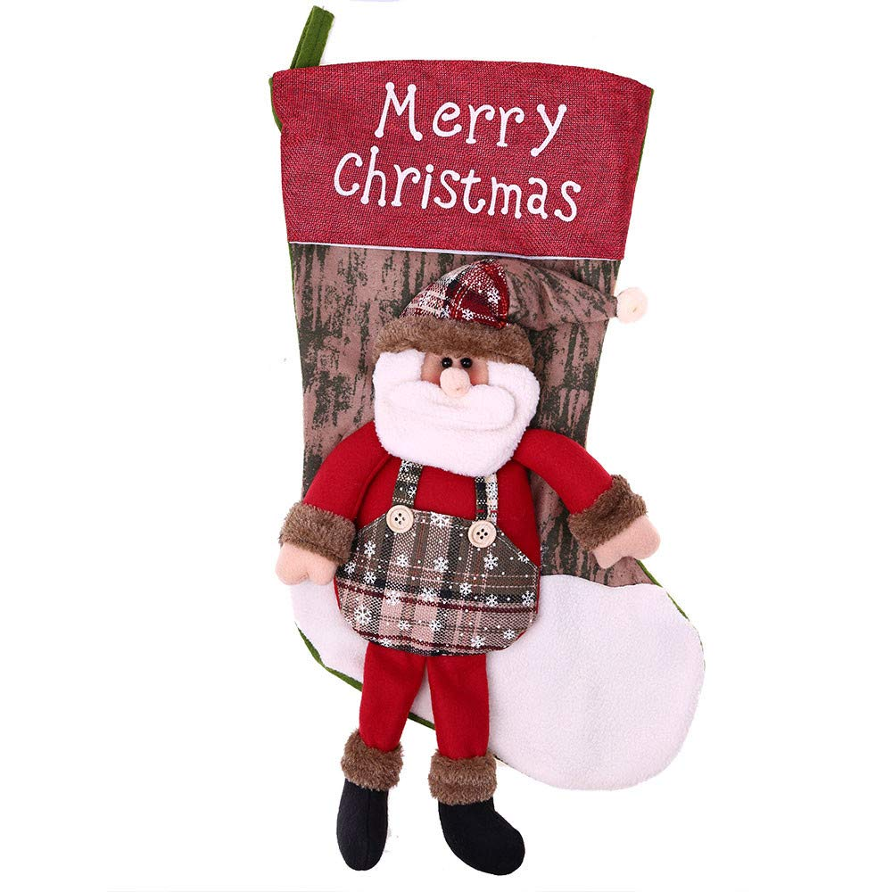 Christmas Tree Decorations, Jchen(TM) Merry Christmas Large Christmas Socks Ornaments Festival Party Xmas Tree Hanging Decoration (A)