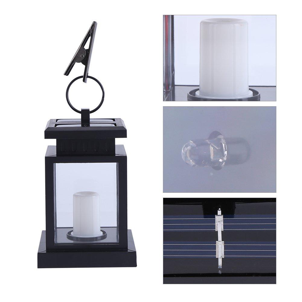 Yosoo Lumi/ère Solaire avec Bougie LED/ Lampe de Jardin Lanterne de ...