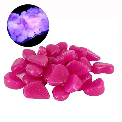 Cinhent Aquarium⭐ 100 Piedras Fluorescentes Que Brillan en la Oscuridad para decoración de Acuario o