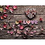 Heaven2017 5D DIY Love Heart Flower Pedals Diamond Painting Cross Stitch Home Decoration - 6932