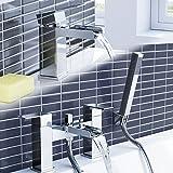 iBathUK | Chrome Waterfall Basin Sink Mixer Tap + Bath Tub Filler Shower Head Bathroom Set TP3109