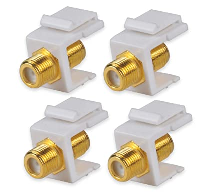Amazon.com: Besmelody Coaxial Keystone Jack for F-Connector ...