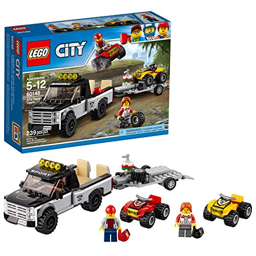 LEGO City ATV Race Team 60148 Building Kit with Toy Truck and Race Car Toys (239 Pieces) -