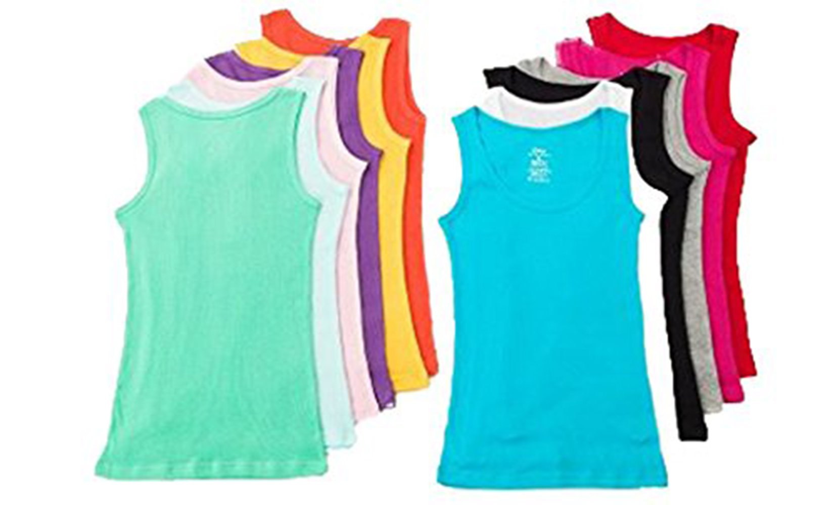 Grip Collections 12-Pack of Women's Ribbed Cotton Muscle Tank Tops, Large by Grip Collections (Image #2)