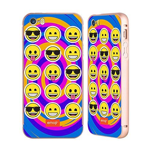 Officiel Emoji Remous Appartement Or Étui Coque Aluminium Bumper Slider pour Apple iPhone 5 / 5s / SE