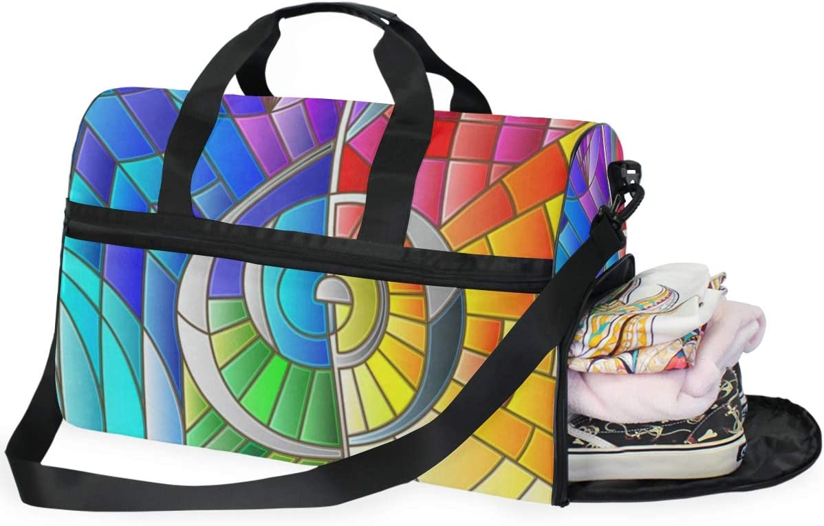 Gym Bag Colorful Music Note Duffle Bag Large Sport Overnight Yoga Bag for Men Women