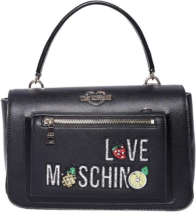 Borse Moschino Love.Moschino Love Borsa Cartella Con Applicazioni Amazon It Abbigliamento
