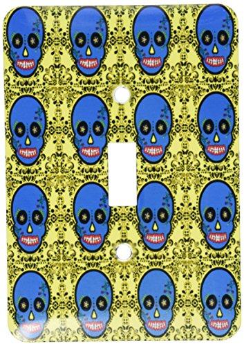 3dRose LLC LSP _ 28889_ 1día de los muertos calavera día de los muertos impresión DE calavera DE AZÚCAR azul amarillo...