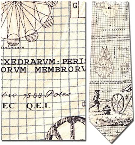 Mens 100% Silk Beige Architect Necktie Tie Neckwear