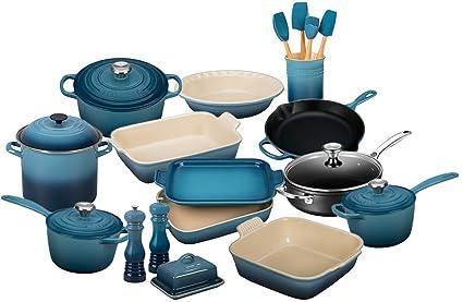 Le Creuset 23 Piece Complete Kitchen Set   Marine Blue
