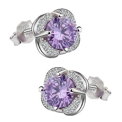 Meyiert Jewellery 925 Sterling Silver Cubic Zirconia Sparkling Stud Earrings for Women 1rsHHgnfe