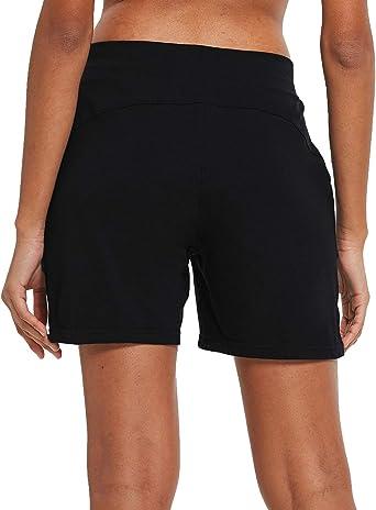 BALEAF Womens 5 Lightweight Yoga Pocketed Lounge Elastic Waistband Activewear Shorts