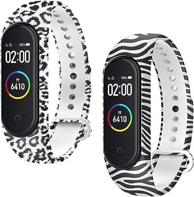 WD&CD 2 Pack Correa de Silicona Negra Compatible con Xiaomi Mi Band 3/4 Correa de Reloj, Muñequera Ajustable Banda de Reloj para Xiaomi Mi Band 3/4: Amazon.es: Electrónica