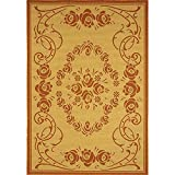 Safavieh Courtyard Collection CY1893-3201 Natural and Terra Indoor/Outdoor Area Rug (8′ x 11′) Review