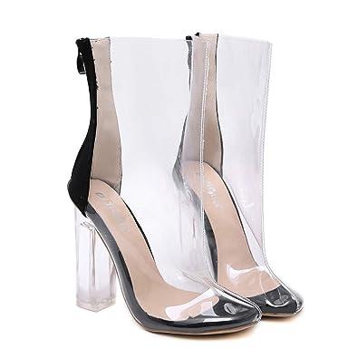 prix spécial pour sélectionner pour dernier vraie qualité ANNIESHOE Bottines Femme Elegante Sexy Confort Transparent ...