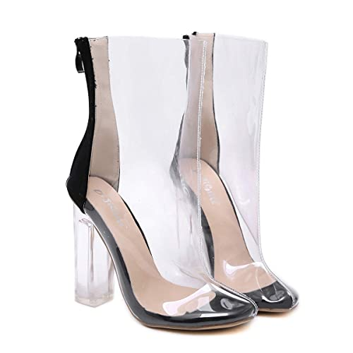 ANNIESHOE Botas Mujer Elegantes Sexy Zapatos Botines Tacon Ancho Primavera Verano: Amazon.es: Zapatos y complementos