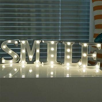 Amazon Com Zm3 Night Light Birthday I Letter Glowing English Lights