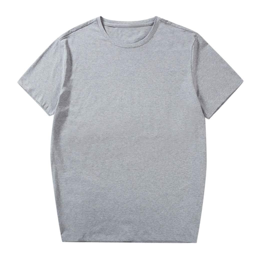 Men Fashion Solid Cotton Design T-Shirt Casual Tops Blouse Plus Size 2xl-6xl Tronet Mens Summer t Shirts Short Sleeve