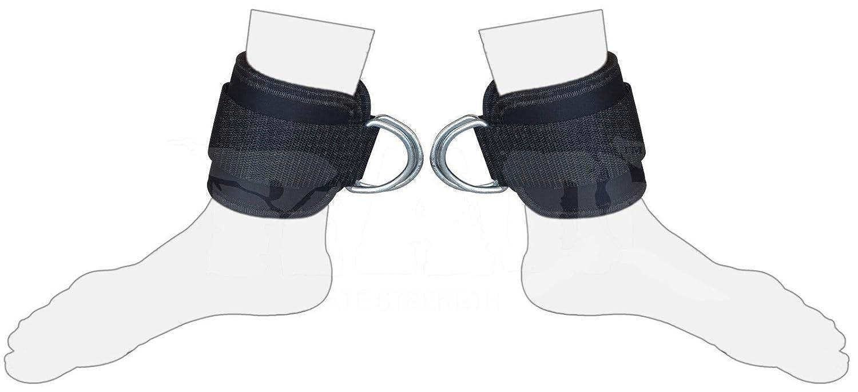 2/Coupe Sangle Cheville poignets Anneau en D Entra/înement Brassard Sangles C/âble Machine double anneau de levage Fixation Multi Gym jambe cuisse Poulie danneaux en D