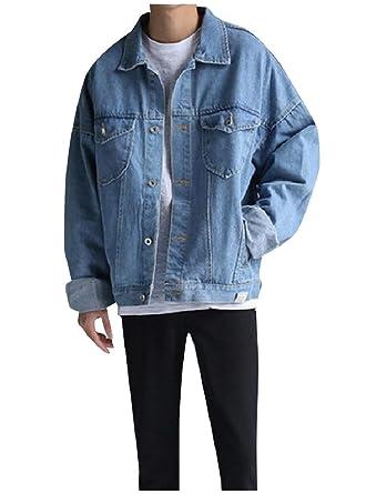 cdc5dbf897d RDHOPE-Men Spring Fall Wash Plus Size Vogue Denim Jean Bomber Jacket at  Amazon Men s Clothing store