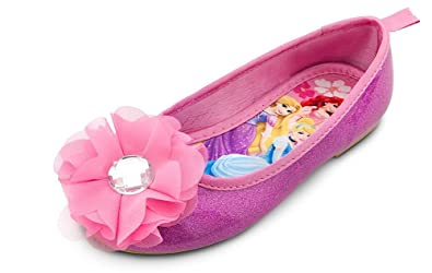 d5835f5a130 Image Unavailable. Image not available for. Color  Disney Store Disney  Princess Ballet Flats Costume Shoes Slippers (Toddler Girls Size ...