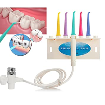 Oral Irrigator Grifo De Agua Dental Irrigador, Dental Spa Water Jet Irrigador Dientes FLOSS Dispositivo Cepillo De Dientes Para Tratamiento Casero (5 En 1 ...