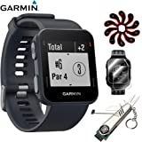 Garmin Approach S10 - Lightweight GPS Golf Watch Granite Blue (010-02028-02) with Deluxe Golf Bundle Includes