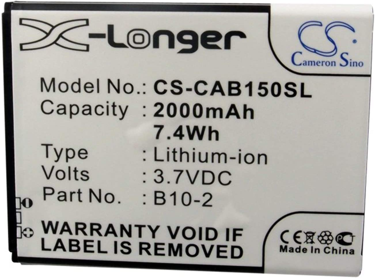 2000mAh Battery for CAT B15 B10-2