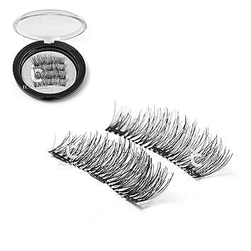 093664f7676 Amazon.com : ICYCHEER Triple Full Magnetic False Eyelashes Natural Look Ultra  Thin 3D Handmade Magnet Fake Eye Lashes Extension Premium Quality Reusable  ...