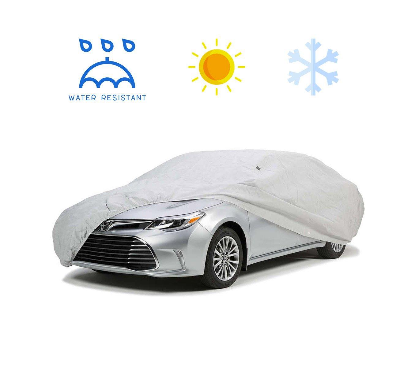 MEDIA WAVE store Telo copriauto Copri Auto Impermeabile peva PVC in Diverse Misure (S)