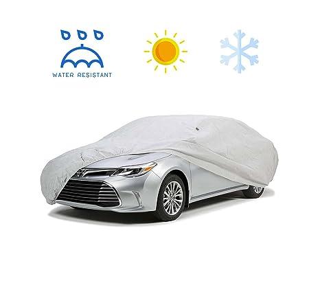logei® Garage Telo copriauto auto copertura comprende speciale copertura impermeabile Taffettà Impermeabile Anti UV S:406*165*120cm Argento