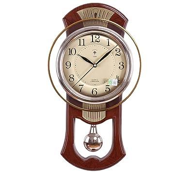 Reloj de pared Moderno Reloj de péndulo Mudo Retro 20 Pulgadas (Color : D): Amazon.es: Hogar