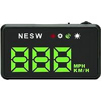 Moniclern Velocímetro digital universal HUD Head-up GPS com MPH para carros, odômetro, velocidade de 3,5 polegadas, tela…
