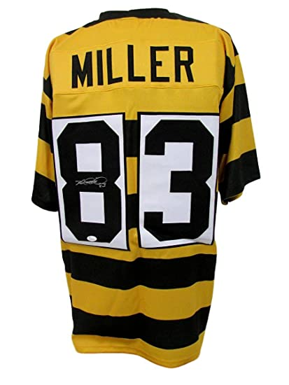 Heath Miller Pittsburgh Steelers Autographed Signed Jersey Striped ... e0947a99c