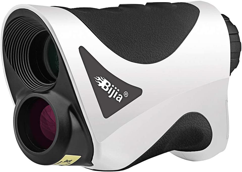 BIJIA Golf Rangefinder with Slope -6X 650Yards Laser Golf Range Finder with Flag-Locking,Slope Correction,Vibration and Distance Measurement.