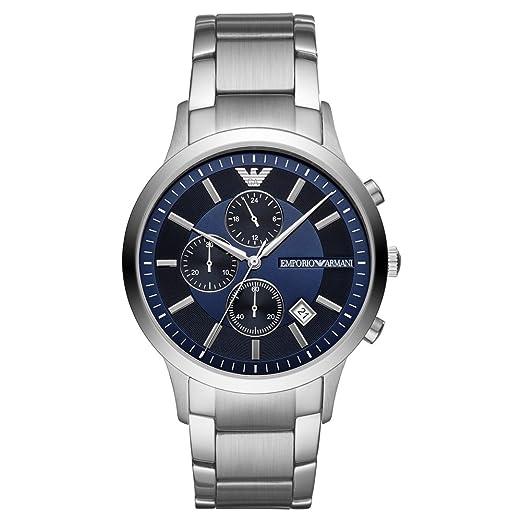Emporio Armani Reloj Cronógrafo para Hombre de Cuarzo con Correa en Acero Inoxidable AR11164: Amazon.es: Relojes
