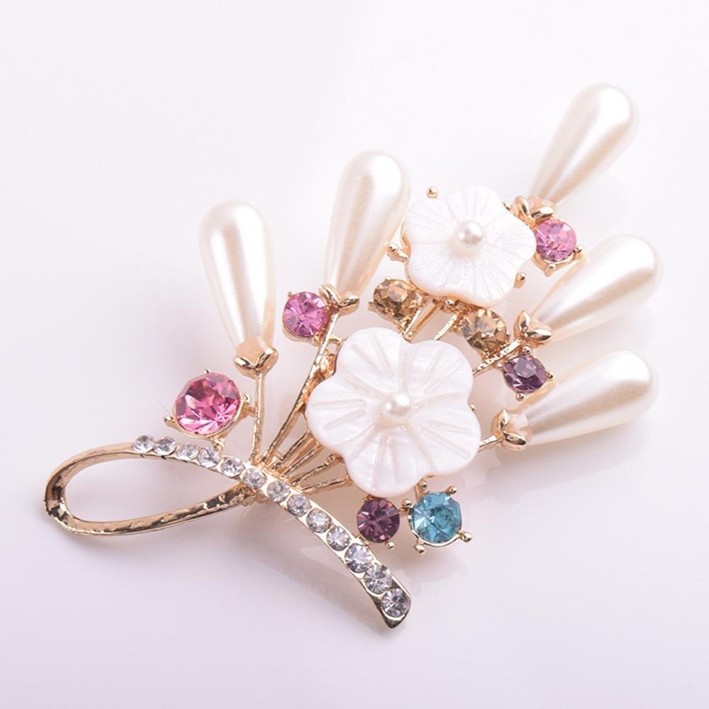 Daeou Spille e fermagli gioiello per donne Lega di conchiglia di diamante  sul petto dell ago perla spilla fiore  Amazon.it  Casa e cucina dc27a5001598