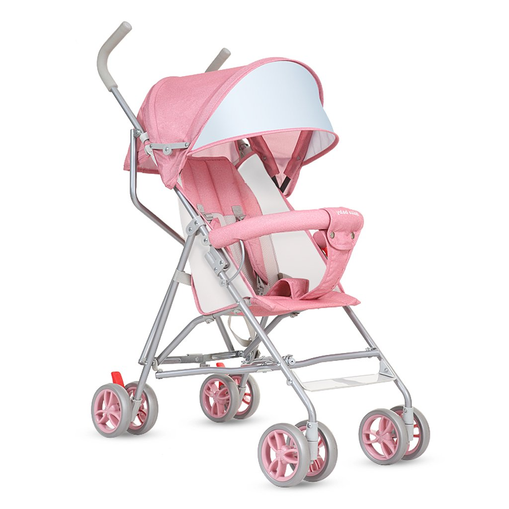 赤ちゃんのベビーカー軽量で簡単に折り畳み座を運ぶ半傘子供のハンドパッド(ピンク)61 * 46 * 94センチメートル B07BT599FG