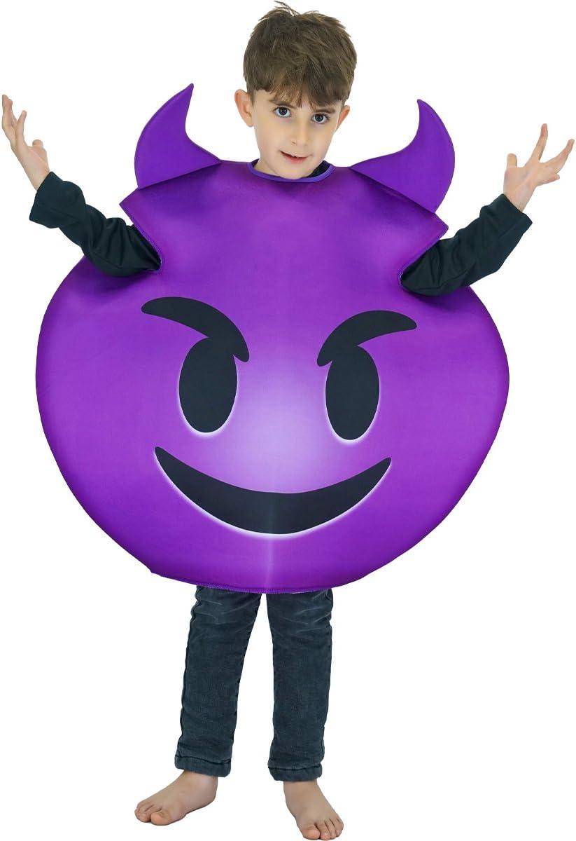 SEA HARE Disfraz de Demonio Emoticon para niño Unisex (Talla única ...