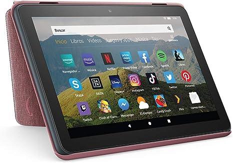 Image ofAmazon Funda para tablet Fire HD 8 (compatible con el tablet de 10.ª generación, modelo de 2020), malva