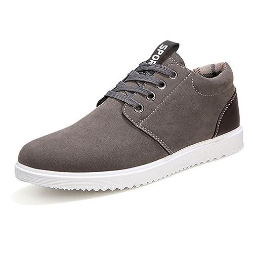 Zapatillas de cordones para hombre, diseño casual, transpirable para todas las estaciones, color marrón, talla 41 EU