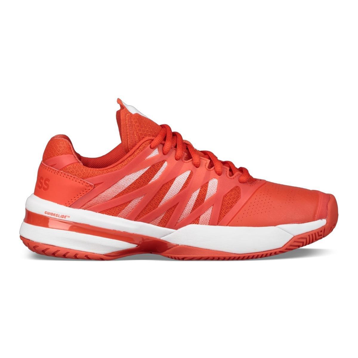 K-Swiss Women's Hypercourt Express Tennis Shoe, Fiesta/White (7.5 US)